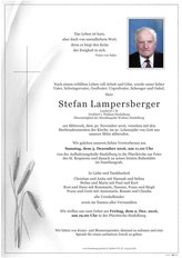 Stefan Lampersberger, verstorben am 30. November 2016