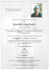 Konrad Mayrhofer, verstorben am 10. April 2017