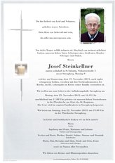 Josef Steinkellner, verstorben am 19. November 2015