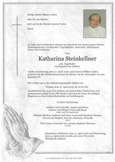 Katharina Steinkellner, verstorben am 12. April 2016